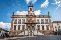 Muzeum zdrada Tiradentes kwadrat w Ouro Preto, Brazylia obrazy royalty free