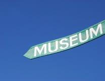 muzeum znak Obrazy Royalty Free