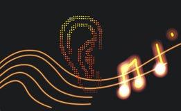 Muziek 🎶 oor royalty-vrije stock foto