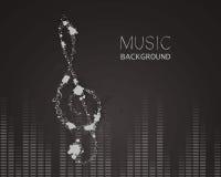 Muziek, abstract ontwerp Stock Afbeelding