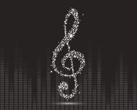 Muziek, abstract ontwerp Royalty-vrije Stock Afbeelding