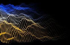 Muziek abstracte kleur als achtergrond Correct signaal met lawaai equaliz royalty-vrije illustratie