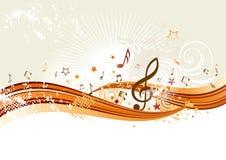 muziek achtergrond Royalty-vrije Stock Foto