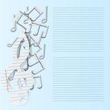 Muziek achtergrondmuzieknotendocument daling royalty-vrije illustratie