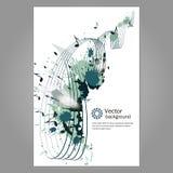 Muziek affiche Stock Afbeeldingen