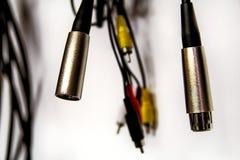 Muziek audiokabels Stock Foto