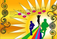 Muziek BG Royalty-vrije Illustratie