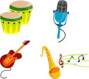 Muziek Cliparts Royalty-vrije Stock Afbeelding