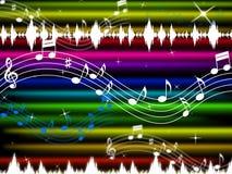 Muziek de Achtergrondmiddelen knallen Rots en het Zingen Stock Foto's