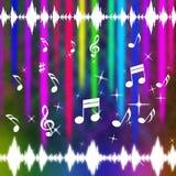 Muziek de Achtergrondmiddelen knallen Rots en Instrumenten Stock Afbeeldingen