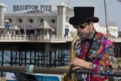 Muziek in de pijler van Brighton Royalty-vrije Stock Foto's