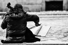 Muziek in de sneeuw Royalty-vrije Stock Afbeeldingen