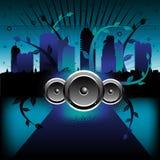 Muziek in de stad vector illustratie