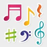 Muziek digitaal ontwerp Stock Fotografie