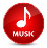 Muziek elegante rode ronde knoop Royalty-vrije Stock Afbeelding