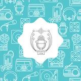 Muziek en audioachtergrond Stock Afbeeldingen