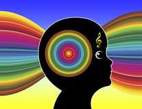 Muziek en Autisme stock illustratie