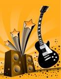 Muziek en correcte illustratie Stock Foto