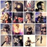 Muziek en dans Stock Foto