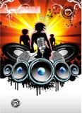 Muziek en de Achtergrond van de Disco Royalty-vrije Stock Afbeelding