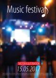 Muziek fest Stock Foto