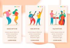 Muziek fest banners royalty-vrije illustratie
