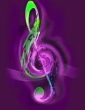 Muziek - G-sleutel - Digitaal Art Stock Foto