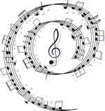 Muziek. G-sleutel en nota's voor uw ontwerp Stock Afbeeldingen