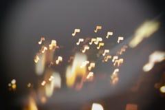 Muziek, geluids en van het nota's abstracte onduidelijke beeld achtergrond Stock Foto's