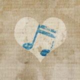 Muziek in hart stock illustratie