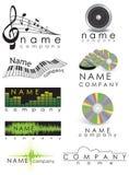 Het embleem van de muziek Stock Afbeelding