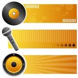 Muziek Horizontale Banners Stock Afbeeldingen
