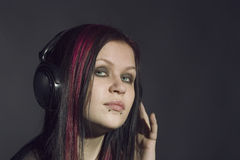 Muziek-meisje royalty-vrije stock afbeelding
