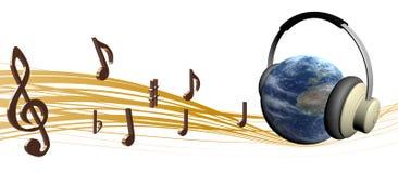 Muziek met aarde Royalty-vrije Stock Fotografie