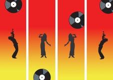 Muziek met verslag royalty-vrije illustratie