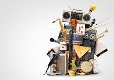 Muziek, muzikale instrumenten royalty-vrije stock fotografie