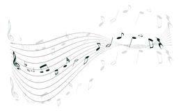 muziek nota's Stock Afbeelding
