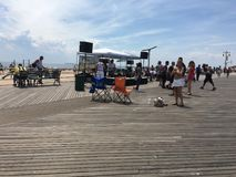 Muziek op Coney Island-Promenade Royalty-vrije Stock Foto's