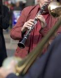 Muziek op de straat: klarinet Stock Fotografie