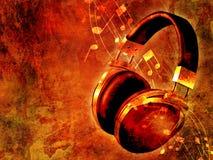 Muziek op grungeachtergrond Royalty-vrije Stock Foto's