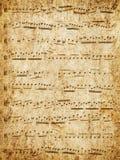 Muziek-papier. stock foto