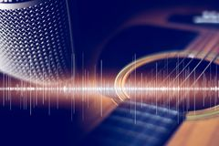 Muziek Retro Akoestische intrument als achtergrond royalty-vrije stock afbeeldingen