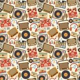 Muziek retro naadloos patroon royalty-vrije illustratie