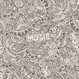 Muziek Schetsmatige Krabbels Hand-drawn vector Royalty-vrije Stock Foto's