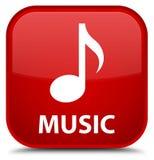 Muziek speciale rode vierkante knoop Stock Afbeelding