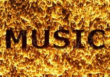 Muziek van brand Royalty-vrije Stock Afbeelding