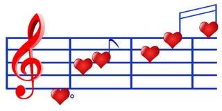 muziek van liefde Royalty-vrije Stock Foto's