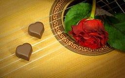 Muziek van twee harten Stock Foto