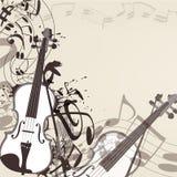 Muziek vectorachtergrond met viool en nota's vector illustratie