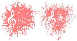 Muziek in vlek Royalty-vrije Stock Foto's